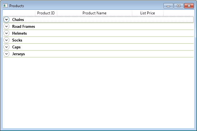 Grouping GridView in WPF