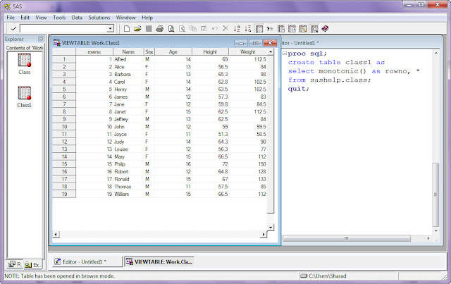 SAS Monotonic() function to create observation number in