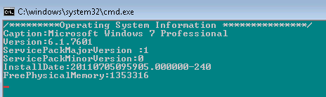 operating system Properties using WMI 2