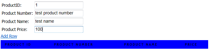 Add new row to Table using Javascript 2