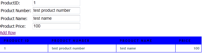 Add new row to Table using Javascript 3